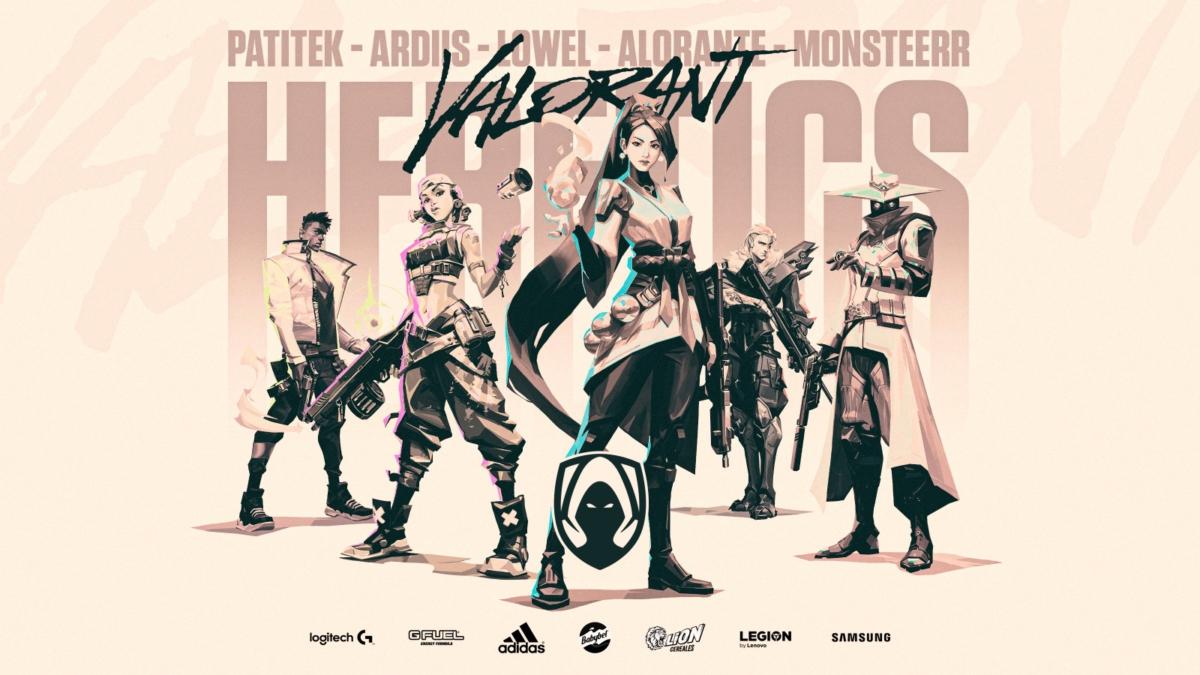 Nova line-up da Team Heretics